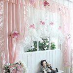 ผ้าม่านสีชมพู รูปผ้าม่านสวยๆ น่ารัก หวานแหวว