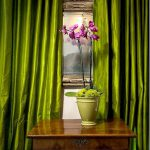 ผ้าม่านสีเขียว สวย ราคาถูก