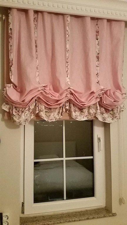 ระบายผ้าม่านสวยๆ สีชมพู