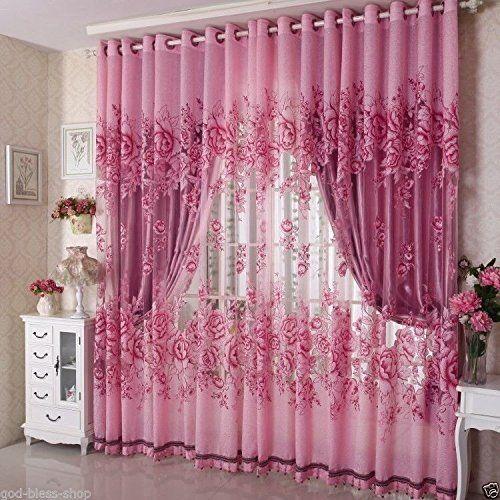 ผ้าม่านสีชมพู ตัดเย็บเข้ารูปหน้าต่าง สวยงามลงตัว